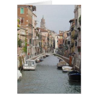 Canal en Venecia, Italia Tarjetas