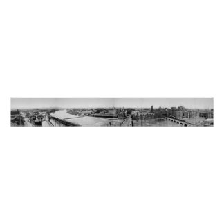 Canal Erie Panorama, 1906 de Rochester Impresiones
