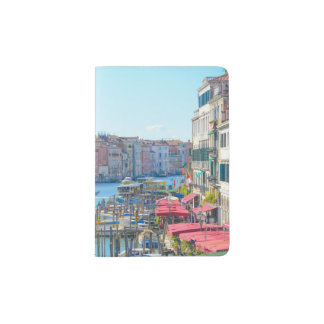 Canal Grande in a summer day in Venice Italy Passport Holder