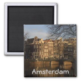 Canal houses 2 inch square magnet