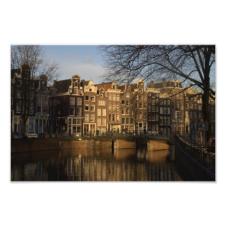 Canal houses photo print