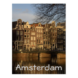 Canal houses postcard