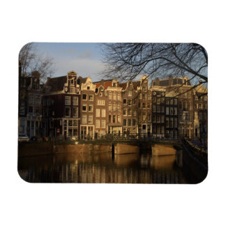 Canal houses rectangular photo magnet
