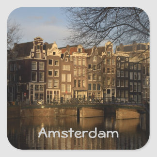Canal houses square sticker