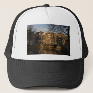 Canal houses trucker hat