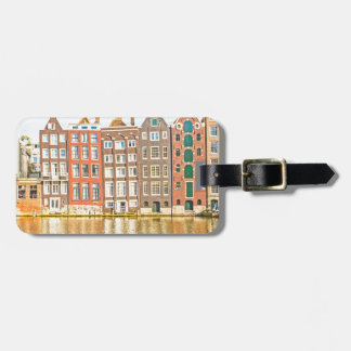 Canal in Amsterdam Bag Tag