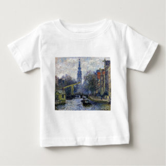Canal in Amsterdam by Claude Monet Baby T-Shirt