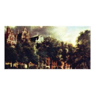Canal In Amsterdam By Heyden Jan Van Der (Best Qua Custom Photo Card