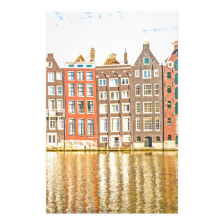 Canal in Amsterdam Stationery