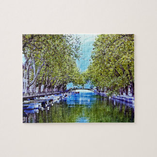 Canal in Annecy France Jigsaw Puzzle