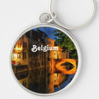 Canal in Belgium Key Chain