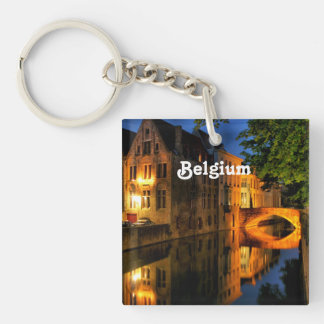 Canal in Belgium Acrylic Key Chains