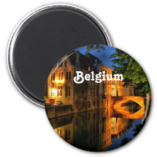 Canal in Belgium 2 Inch Round Magnet