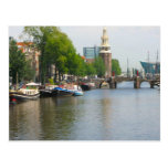 Canal in central Amsterdam Post Cards