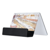 Canal in Snow Timber Chute Desk Business Card Holder