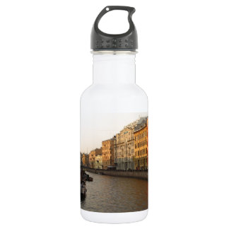 Canal in st Petersburg, Russia Stainless Steel Water Bottle