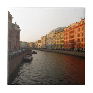 Canal in st Petersburg, Russia Tile