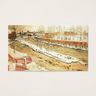 Canal in the Snow Business Card
