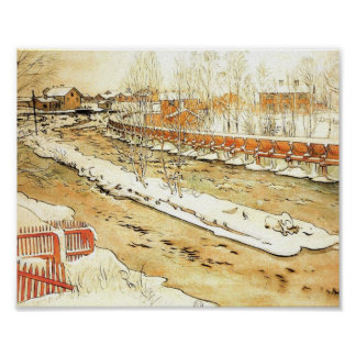 Canal in the Snow Poster