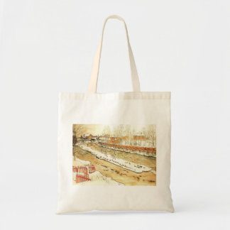 Canal in the Winter Canvas Bag