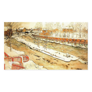 Canal in the Winter Double-Sided Standard Business Cards (Pack Of 100)