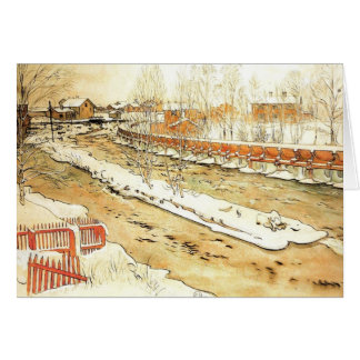 Canal in the Winter Greeting Card
