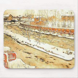 Canal in the Winter Mouse Pad