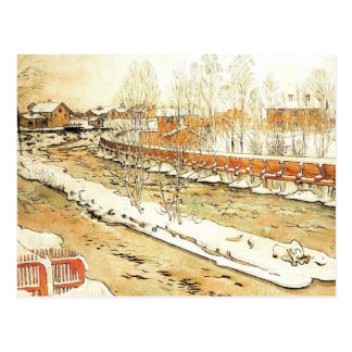 Canal in the Winter Postcard