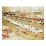 Canal in the Winter Posters