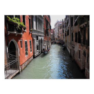 Canal in Venice in Italy Poster