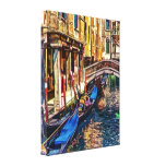 Canal in Venice Italy by Shawna Mac Gallery Wrap Canvas