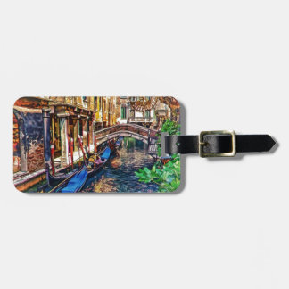 Canal in Venice Italy by Shawna Mac Travel Bag Tags