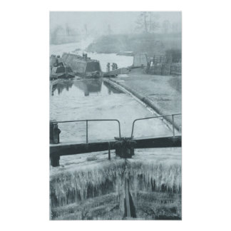 Canal in winter print