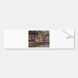 Canal in Zeeland by Emile Claus Bumper Sticker