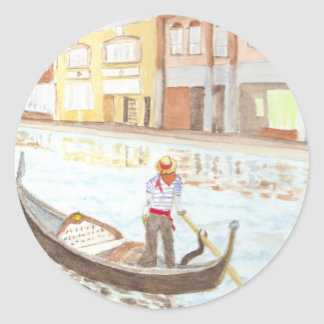 Canal Life Classic Round Sticker