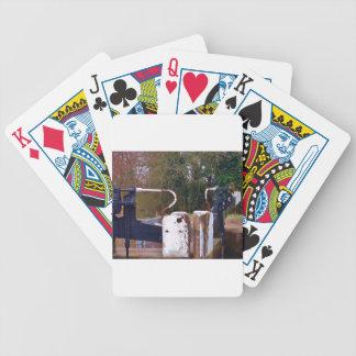 Canal Lock Gate Poker Deck