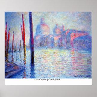 Canal magnífico por Claude Monet Impresiones