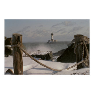 Canal Park Lighthouse print/poster Poster