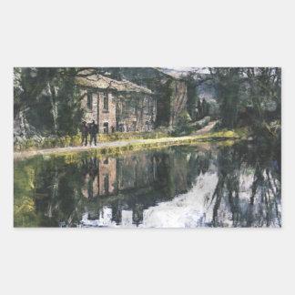 Canal Reflections Rectangular Sticker