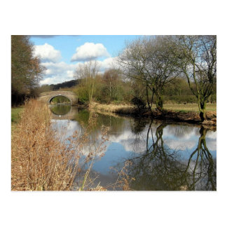 Canal Rural England Countryside Postcard