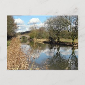 Canal, Rural Leicestershire Post Card