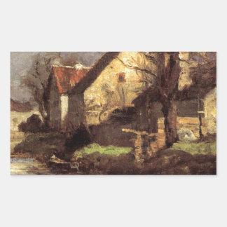 Canal, Schlessheim by T. C. Steele Rectangular Sticker