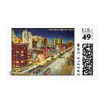 Canal Street at Night, New Orleans, Louisiana Postage Stamp