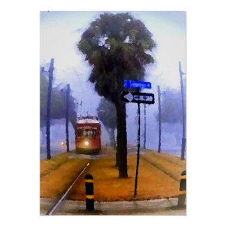 Canal Streetcar, Foggy Morning Poster
