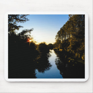 Canal Sunset Mouse Pad
