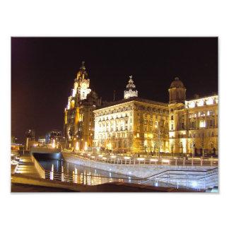 Canal Three Graces Pier Head Liverpool UK Photo