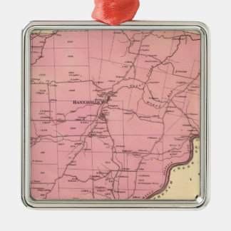 Canal Township Square Metal Christmas Ornament
