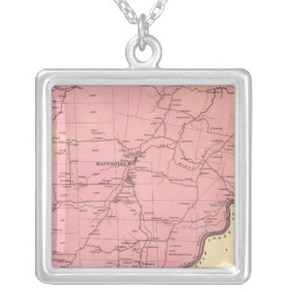 Canal Township Square Pendant Necklace