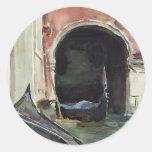 Canal veneciano de John Singer Sargent Etiquetas Redondas