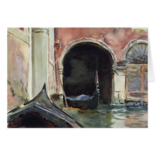 Canal veneciano de John Singer Sargent Felicitacion